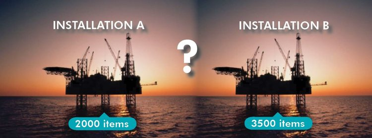 Two offshore instalations comparison